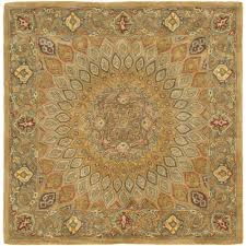 Area Rug Square Safavieh Heritage Light Brown Grey 10 Ft X 10 Ft Square Area Rug