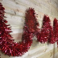 10m x 15cm luxury thick cut tinsel garland christmas tree