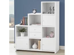 coaster corner bookcase coaster bookcases asymmetrical bookshelf with cube storage