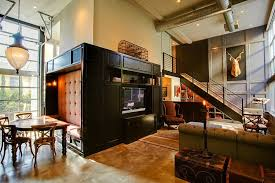Industrial Retro Interior Design Love The Booth Like Dining Area - Modern and vintage interior design