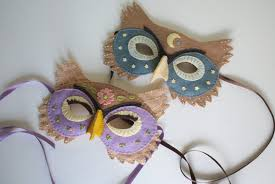 owl mask felt owl mask pattern for or dress up iris