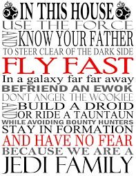 Star Wars Room Decor Etsy by Star Wars House Rules Sign Jedi Quotes Art Print Canvas By