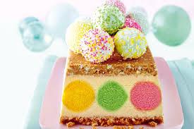white chocolate and cake pop ice cream dessert