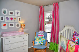 Pink And White Nursery Curtains by Studio 7 Interior Design Client Reveal Colorful Nursery