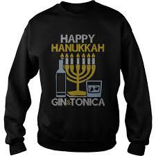 happy hanukkah sweater hanukkah gin and vodka hanukkah