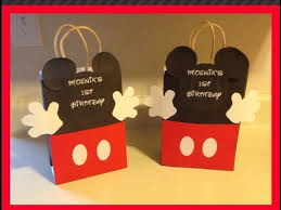 mickey mouse favor bags diy mickey mouse goodie bag