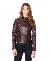 light brown vest womens women s leather quilted biker jacket dark brown