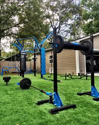 outdoor gym movestrong 4 post t rex fts with climber bar and