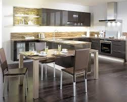 cuisine avec ilot table ilot central avec table cuisine en image