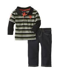 u s polo assn baby clothes for boys infant stripe polo hangdown