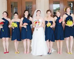 navy blue bridesmaids dresses the jersey by thejerseymaid on etsy