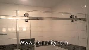 Abc Shower Door Sophisticated Serenity Custom Frameless Sliding Shower Door