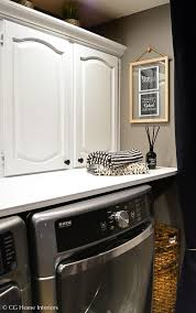 Cheap Laundry Room Cabinets by Small Laundry Room Makeover On A Small Budget