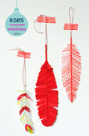 8 days u0027til christmas 3 crafty feather ornaments project kid