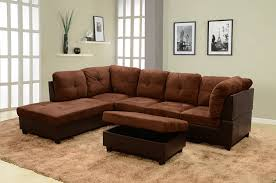 Sectional Sofa And Ottoman Set by Amazon Com Lifestyle Coffee Microfiber U0026 Faux Leather Right