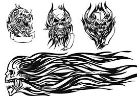 free skull tattoo brushes