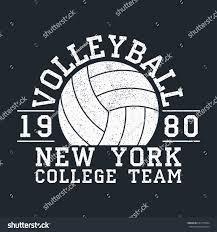 volleyball new york grunge print apparel stock vector 692775094