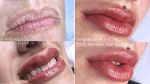 tattoo makeup freckles lip blushing tattoo treatment darkens lip color before and after