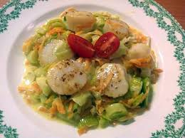 cuisiner st jacques recette de jacques aux petits légumes recette inspirée par