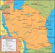 geographical map of kenya tanzania map and satellite image
