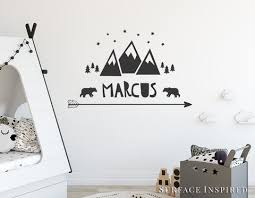Personalized Wall Decals For Nursery Wall Decal Mountain With Name Wall Decals Nursery
