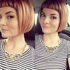 chinbhairs and biob hair short bangs blunt bob chin length hair lunatic fringe salon