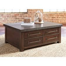 ashley furniture starmore cocktail table with storage in gray