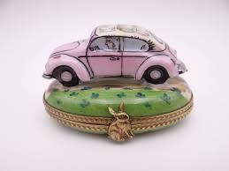 volkswagen beetle green vintage limoges france hand painted volkswagen beetle vw bug