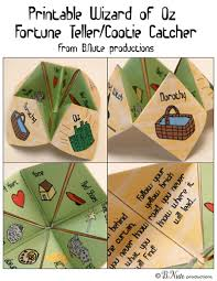 Wizard Of Oz Shower Curtain Free Printable Wizard Of Oz Cootie Catcher Fortune Teller From B