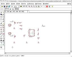draw electronic schematics with cadsoft eagle 18 steps