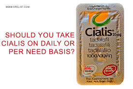 should you take cialis on daily or per need basis by dr elist