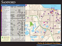 Orlando Attractions Map by Sanford