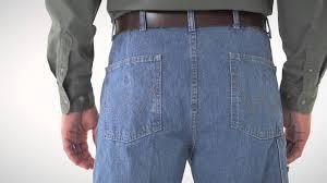 Rugged Wear Clothing Wrangler Rugged Wear Men U0027s Indigo Denim Angler Pants Youtube