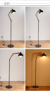 Wrought Iron Floor Lamps Countryside Vintage Style Black Wrought Iron Floor Lamp Solid Wood