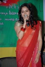 saree mania singer sunitha photos in transparent saree