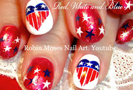 4th of july nails diy red white and blue nail art design