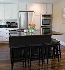 black kitchen island with stools outstanding design black kitchen island home design the best
