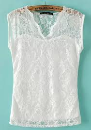white lace blouses white floral v neck sleeveless lace blouse blouses tops