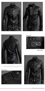leather motorcycle jacket men u0027s fashion stand collar pu leather motorcycle jackets us
