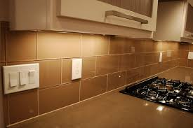 kitchen glass tile backsplash designs khaki 4x12 large glass subway tile backsplash brown glass brick