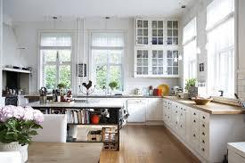 spacious open plant kitchen interior design in neutral color