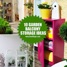 Garden In Balcony Ideas 10 Garden Balcony Storage Ideas
