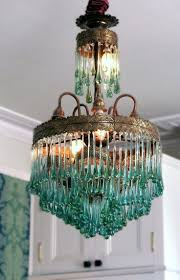 blown glass bubble chandelier dining room antique gl lamp shades