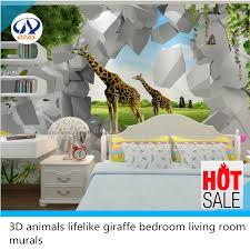 livingroom ls 3d animals lifelike giraffe bedroom living room dzas ls murals