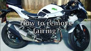 ninja 300 fairing removal step by step youtube
