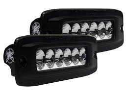 Flush Mount Led Lights Sr Q2 Driving Pair Flush Amber Black Rigid Industries