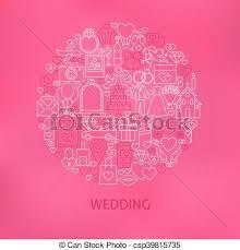 concept mariage vecteurs de ligne concept mariage cercle icônes line