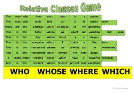 184 free esl relative clauses worksheets