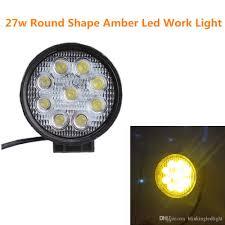 Work Light Fixtures by 4 Inch 27w Round Amber Led Work Ligh 10 30v Spot Flood Fog Light