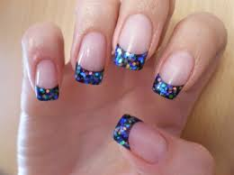 nail glitter how to